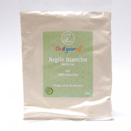 Argile blanche en poudre Bio 100g