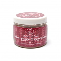 Masque Rhassoul Ghassoul orange / cannelle Bio 200g