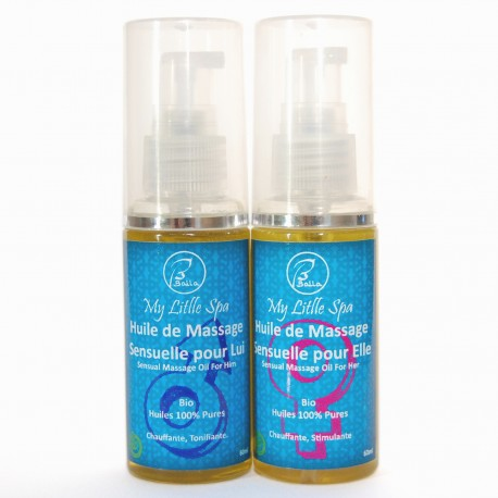 Duo huile de massage sensuelle 60ml