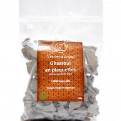 Rhassoul Ghassoul (Argile noire) en plaquette Bio 200g sachet