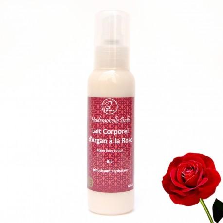 Lait corporel d'argan parfumé à la rose Bio 120ml