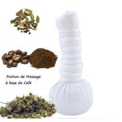 Pochon de Massage Ayurvédique aux plantes à base café bio et naturel 110g