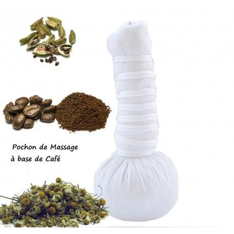Pochon de Massage Ayurvédique aux plantes à  base café bio et naturelle 110g  g