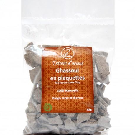 Ghassoul (Argile noire) en plaquette Bio 200g sachet