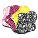 Protège-slip lavable en coton bio, réutilisable, écologique x 4 x 5g