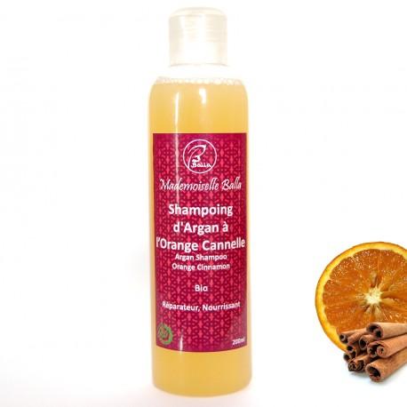 Shampoing d'argan parfumé à l'orange / cannelle Bio 200ml
