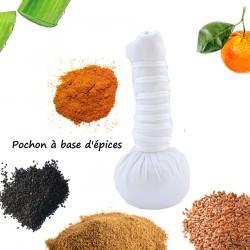 Pochon Massage ayurvedique à base d'épices bio et naturelle 110g