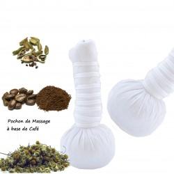 Pochon de massage aux plantes à base de café X2 bio et naturelle 110g