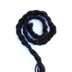 Paranda 1m10 Ondulation Naturelle Epaissit les traisses Cheveux Noir