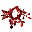 Bracelet en perles de rocaille Rouges 100% naturelles