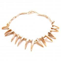 Collier court perles de Rocaille et coquillage blanc 100% naturelle