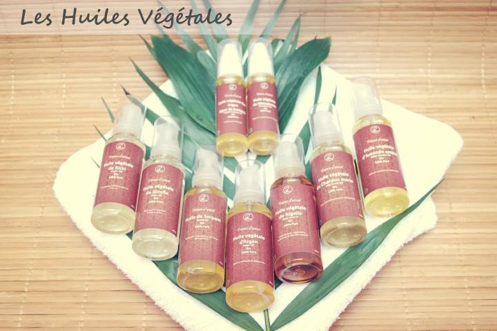 Les huiles végétales Bio et naturelles